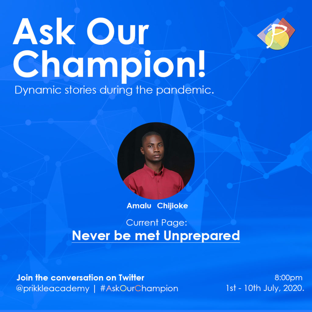 #AskOurChampion - Amalu_Chijioke Prikkle Academy